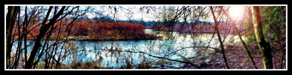 DSC00991_La_Rivière_Tranquille_Sony_Alpha_Pano_Oil_Paint & Ink_Outlines_Borders